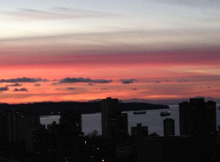 Sunset over English Bay.