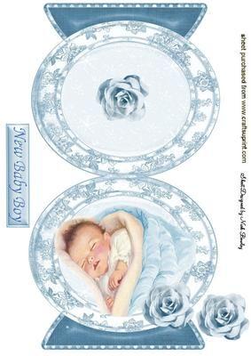 VINTAGE BABY BOY QUICK CARD on Craftsuprint - Add To Basket!