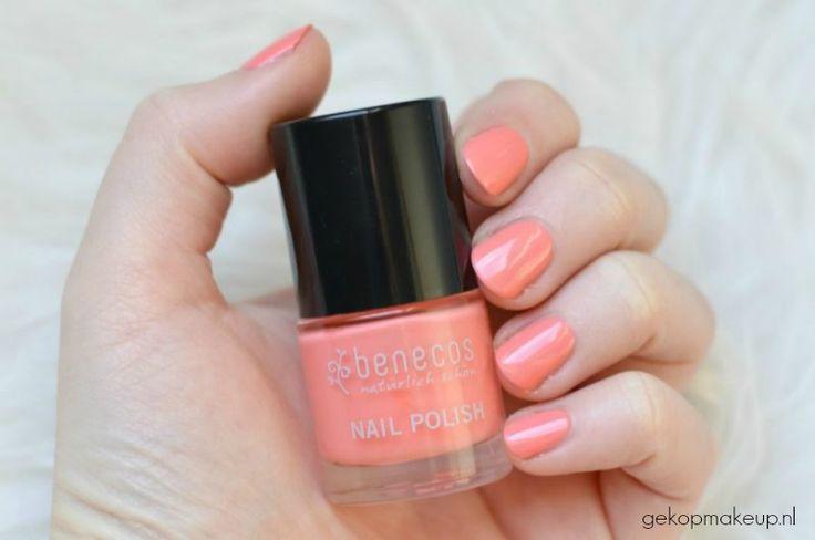 Swatch Benecos nagellak: natuurlijk, dierproefvrij en vegan. Dit is Peach Sorbet!