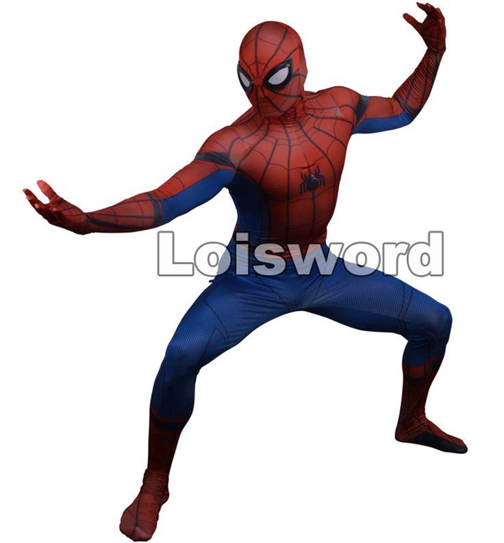 Loisword Designer Spider-Man Homecoming cosplay costume 3D Printed Spiderman Homecoming Spandex zentai suit Spidey bodysuit #Costume #Cosplay