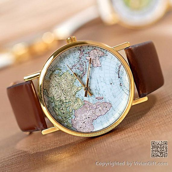 70% OFF, World Map Watch, Unisex Watch, Leather Watch ,World Map Watch Mens wrist watches Women Watches Christmas Gift,best sales (VI0254) on Etsy, $3.98