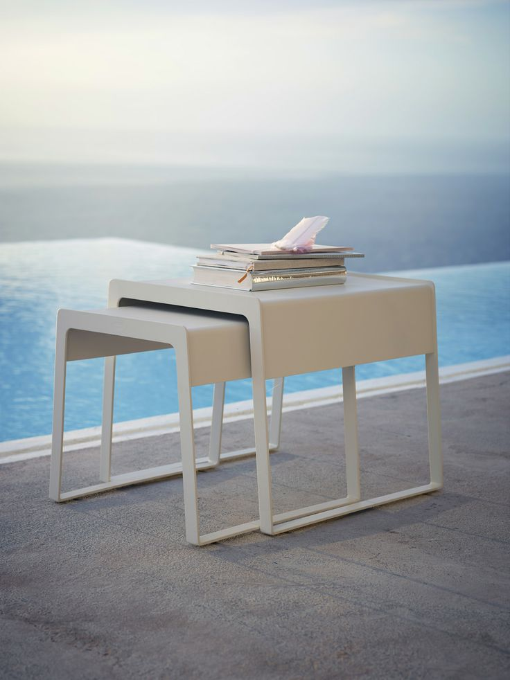 Chill-out nesting tables by #Caneline. Design by Strand+Hvass. #Danishdesign #Outdoor