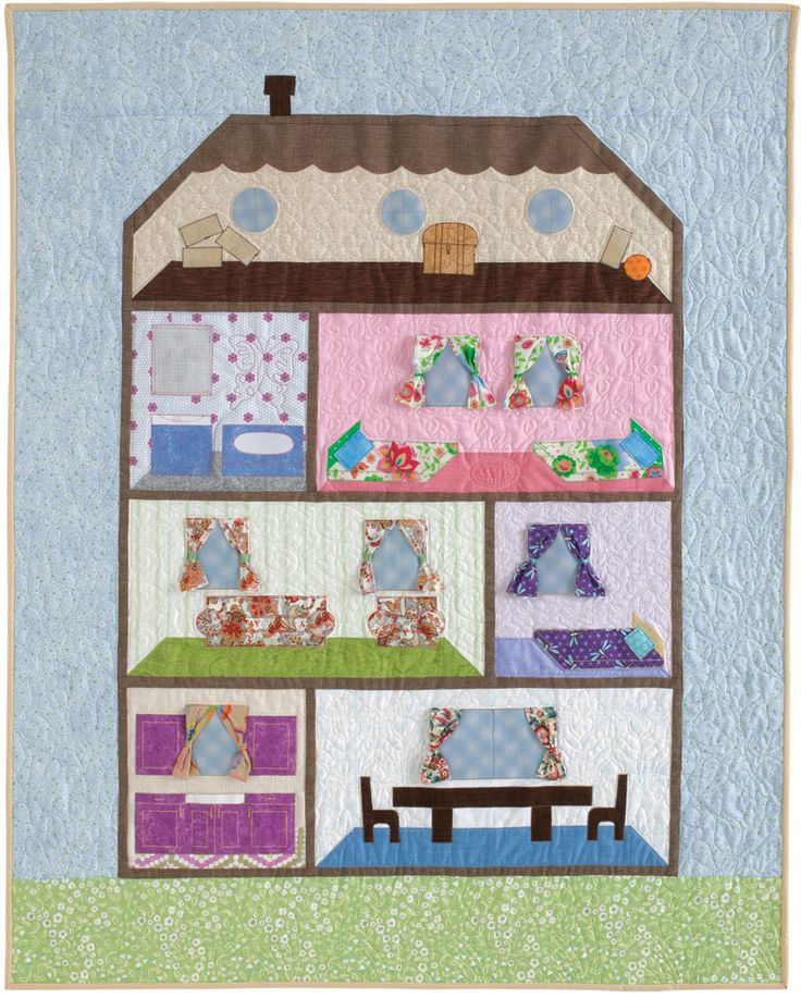 House of Sweet Dreams quilt, designed and made by Joanne Hillestad. Quilters Newsletter Presents Best Kids Quilts 2015.: