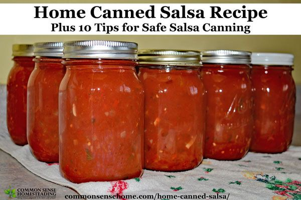"""This home canned salsa recipe rates an """"Awesome!"""" from friends & family. Not all salsa recipes are safe for canning, so we've included tips for safe storage"""