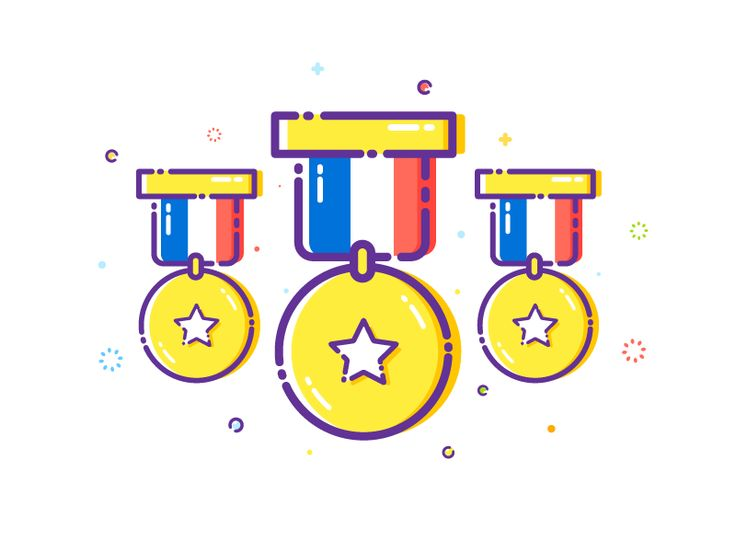 Olympic Medal - Sticker Mule by  Dusuacangmong  #Design Popular #Dribbble #shots