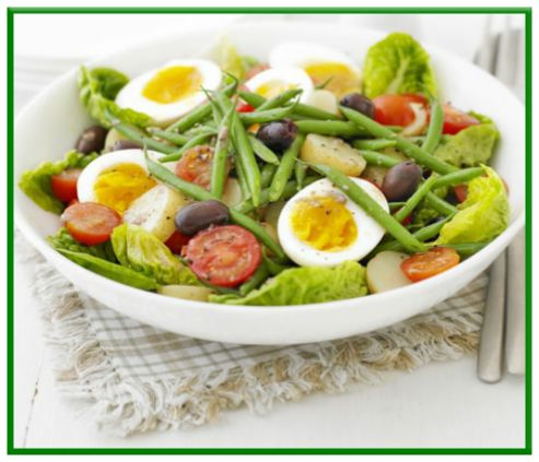 Summer salad with anchovy dressing   http://www.ibssanoplus.com/low_fodmap_summer_salad_anchovy_dressing.html