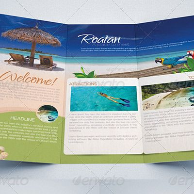 7 great travel brochure examples and design samples for Travel guide brochure template