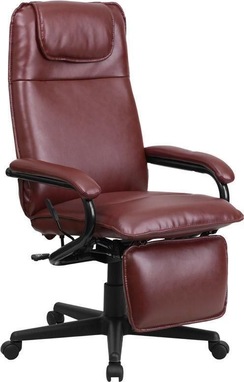 Flash Furniture BT-70172-BG-GG High Back Burgundy Leather Executive Reclining Office Chair