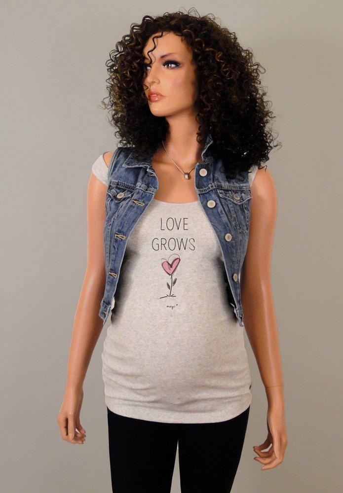 Pregnancy Clothing, Funny Maternity Shirt, Maternity Clothes, Maternity Tshirt, love grows by CutsieTootsieApparel on Etsy https://www.etsy.com/listing/233088189/pregnancy-clothing-funny-maternity-shirt