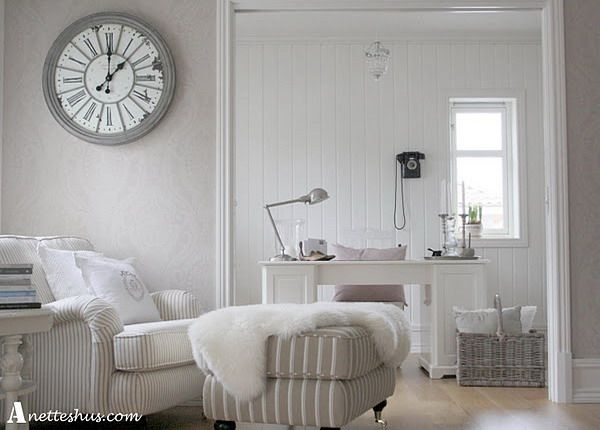 beautiful white room with paris style vintage wall clock beautiful white room with paris style
