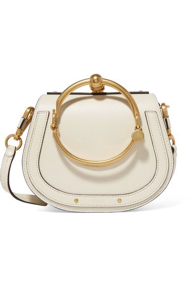 CHLOÉ Nile Bracelet small leather and suede shoulder bag. Available here: http://rstyle.me/n/chx5w9bcukx