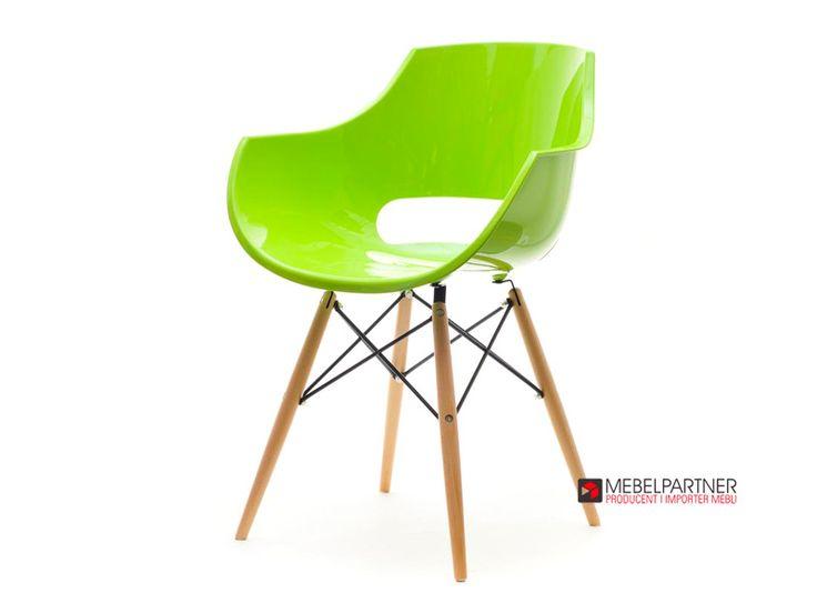 Nowoczesne krzesło tarasowe GRUND zielone. - Mebel-Partner.pl