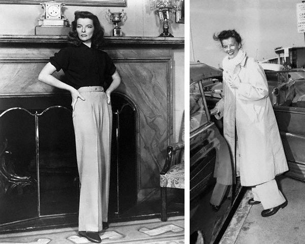 Katharine Hepburn is a true style icon who contributed towards making trousers fashionable and acceptable to women. Description from pinoycyberkada.com. I searched for this on bing.com/images