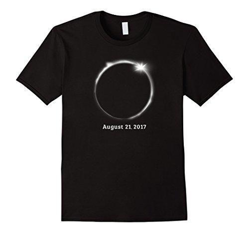 Mens Total Solar Eclipse 2017 T-Shirt Medium Black