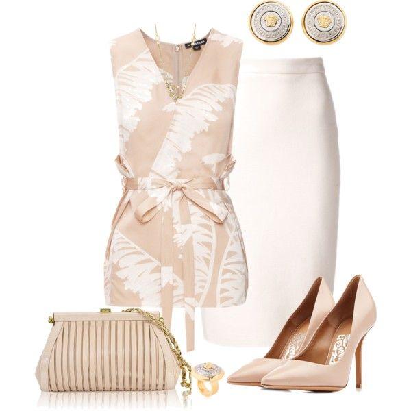A fashion look from July 2015 by marisol-menahem featuring Whistles, Lanvin, Salvatore Ferragamo, Versace y Lisa Stewart