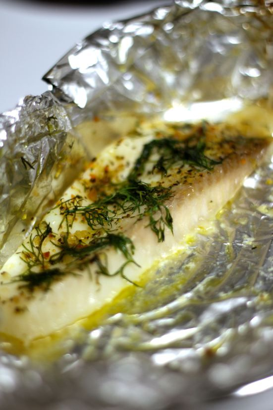 Tilapia cooked in tin-foil pockets (Healthy & Paleo-approved)