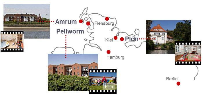 Mutter-Vater-Kind Kureinrichtungen: Amrum - Plön - Pellworm - Mutter Kind Kur Plön Amrum Pellworm