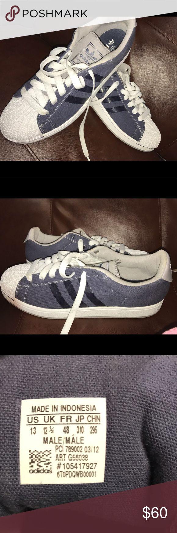 Adidas Originals Superstar II Trainer Grey/ Blue Brand new NEVER WORN, without original box. Adidas Originals Superstar 80s Animal Oddity Canvas Shell Toe Trainer Grey/ Blue, Size 13 Adidas Shoes Sneakers