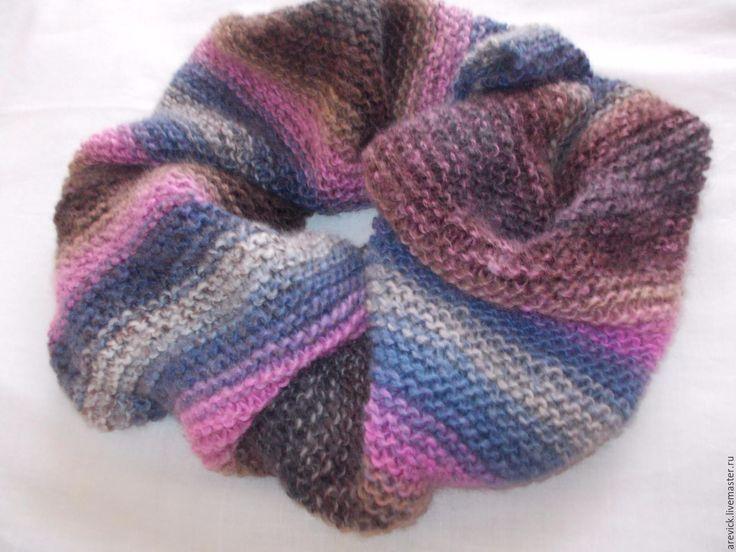 Купить Снуд вязаный - комбинированный, шарф, шарф вязаный, снуд, снуд женский