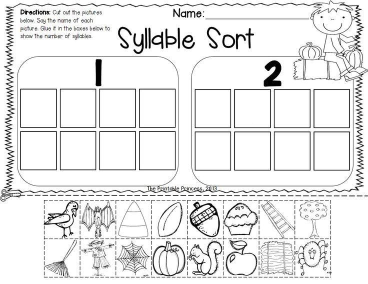 Syllable Practice Worksheets Kindergarten
