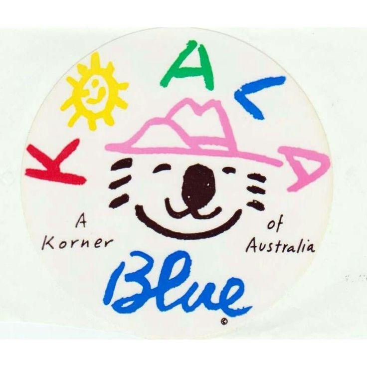 Koala Blue logo by artist Ken Done | Olivia Newton John store | 1980s