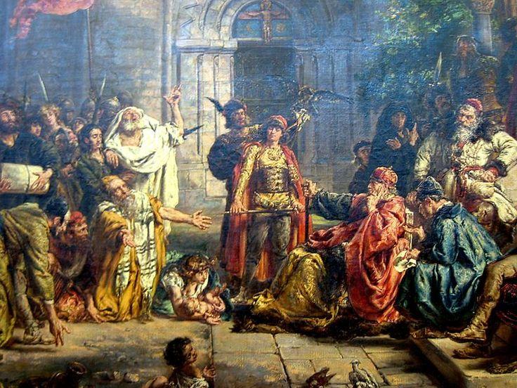 Reception of Jews in Poland 1096 by Jan Matejko