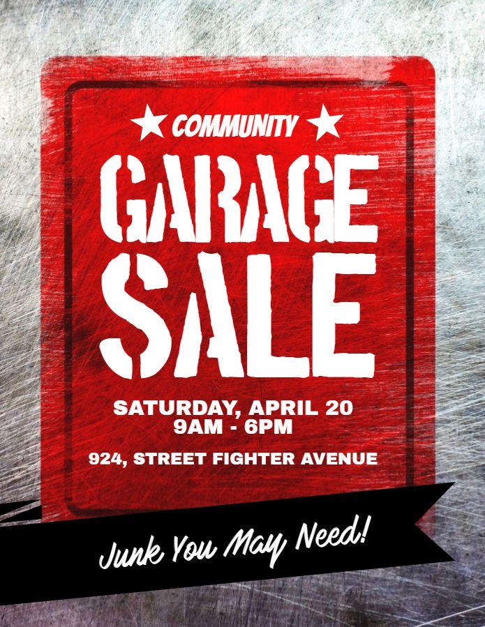 Community Garage Sale Announcement Poster Social Media Post Graphic Design Template Sale Flyer Flyer Poster Template
