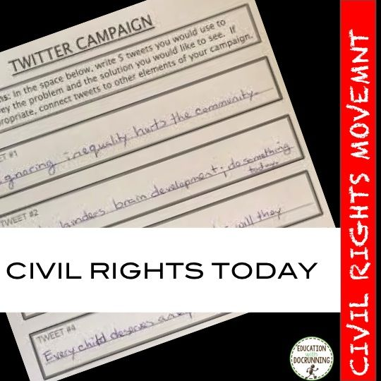 Civil rights movement is connected to issues of today when students launch their own social justice campaigns.  What issues are they concerned about?  It might surprise you.