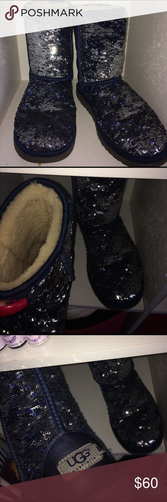 Blue uggs Some wearing still good condition UGG Shoes
