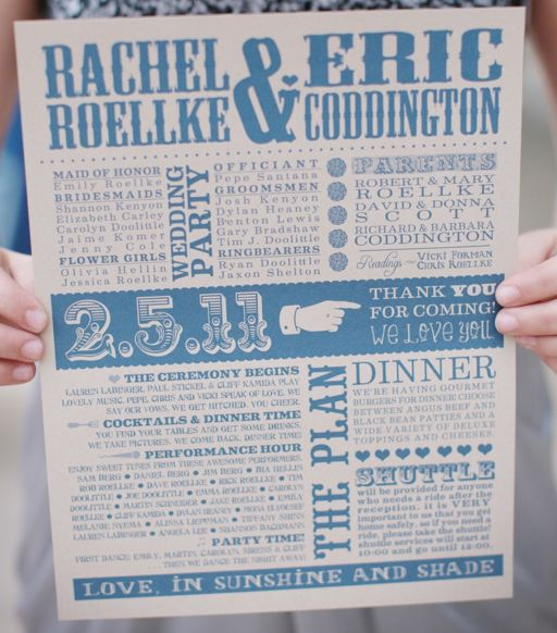 Non-Traditional Wedding Programs - Calluna Events