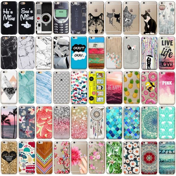 Fashion Cute Pattern Ultra Thin TPU Phone Case Cover For iPhone 5S 6S 5C