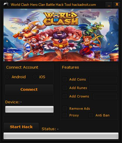 World Clash Hero Clan Battle Hack Tool