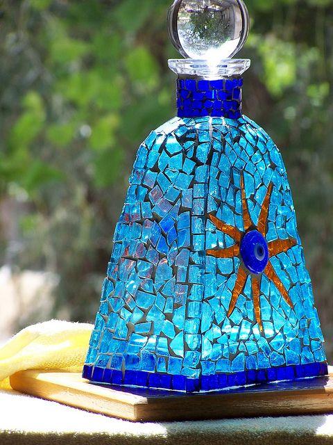 200846. Mosaic bottle by Basak Altin 2004 by basak altin (goldspike) mosaic, via Flickr