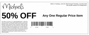 REPIN Michaels Printable Coupons 50 Off. We offer tons of free printable coupons daily. Check us out.