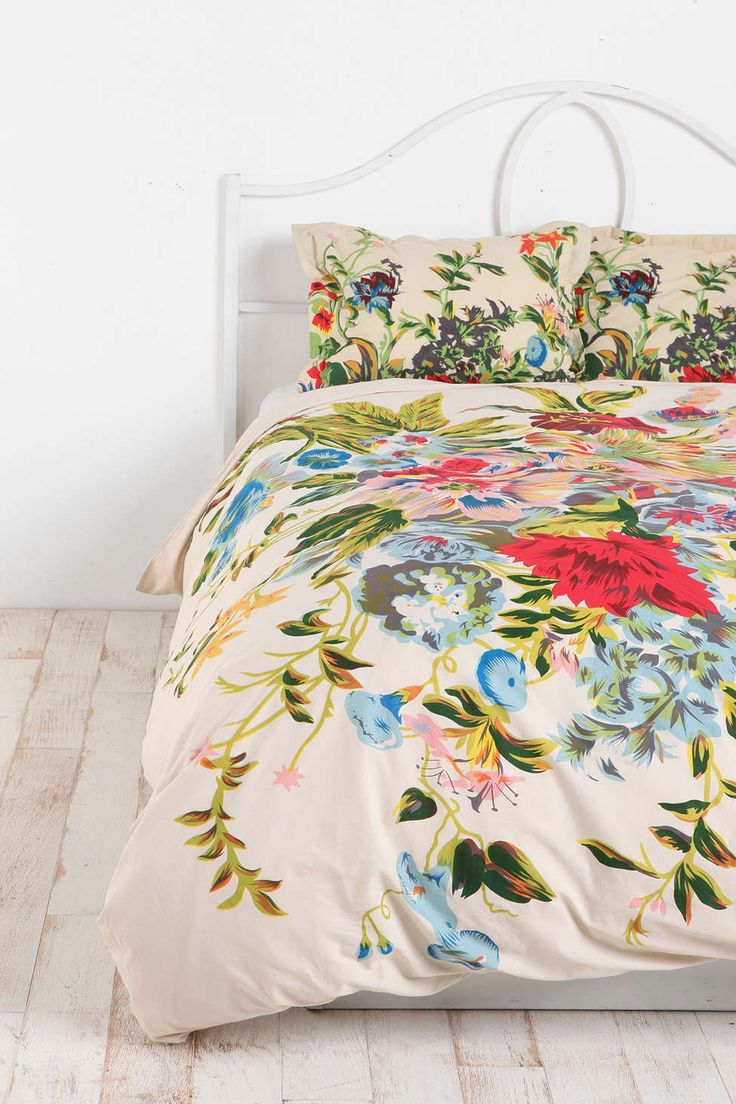 Romantic Floral Scarf Sham - Set Of 2 - Urban Outfitters