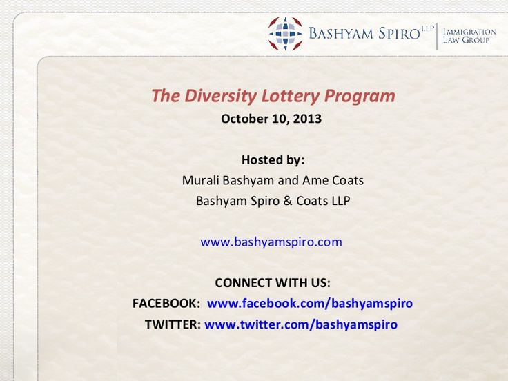 The diversity visa lottery program