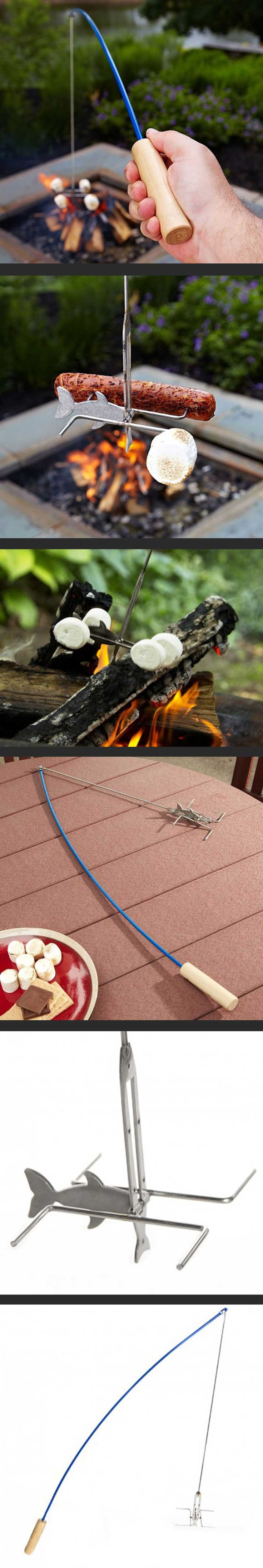 17 best ideas about marshmallow roasting sticks on for Fire fishing pole