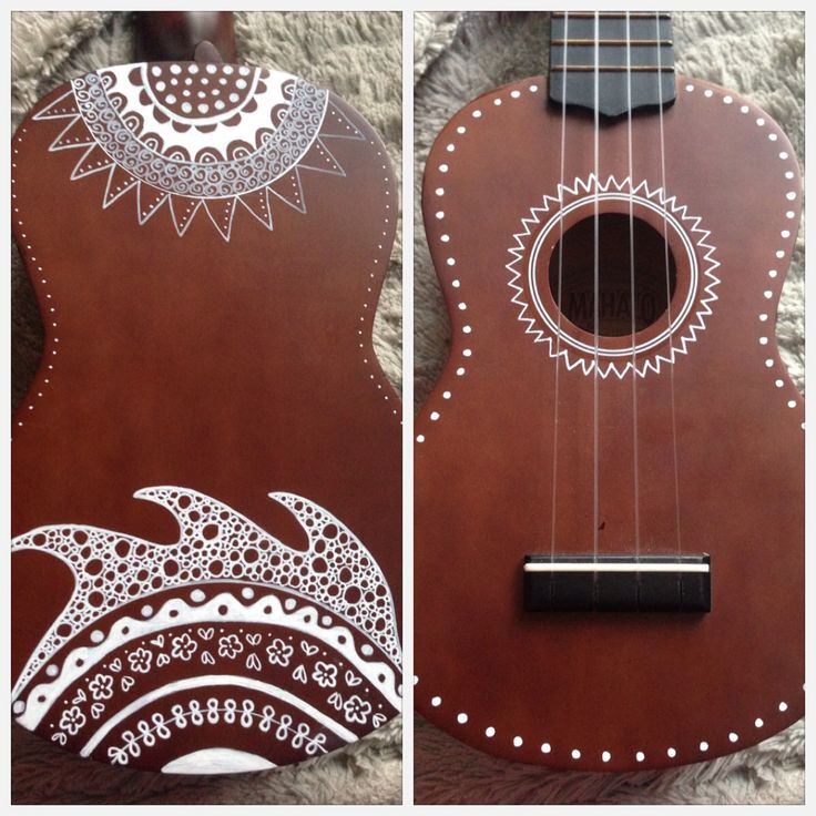 Hand-painted ukulele design inspired by zentangle. This ukulele is on display at Arts Market in Toronto (College and Ossington). Contact Jenny at UkuLeeShee to order your own unique design.