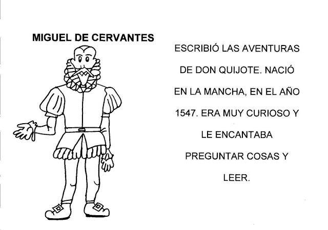 Menta Más Chocolate - RECURSOS y ACTIVIDADES PARA EDUCACIÓN INFANTIL: Personajes de DON QUIJOTE (Cervantes)