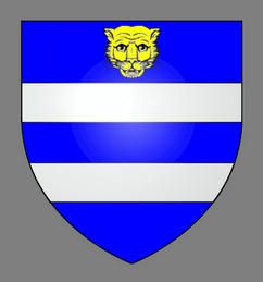 Landed Gentry ca. 1500. Wright Coat of Arms, granted at the beginning of the reign of King Henry VIII. Lion Passant Guardant - With their heads turned toward the observer.