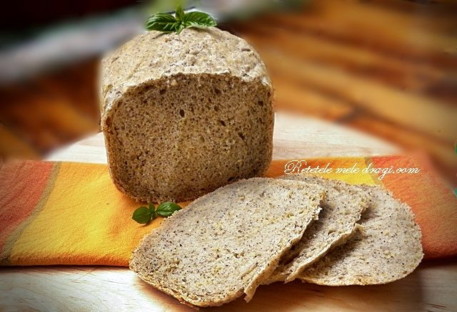 Paine cu mei si canepa - Retetele Mele Dragi Home made bread with millet and hemp seeds