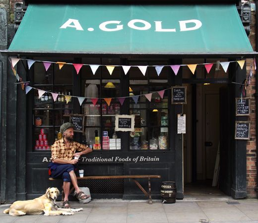 A.Gold shop, Spitalfields, London - shop and deli - traditional foods of Britain  HONEY MEAD!