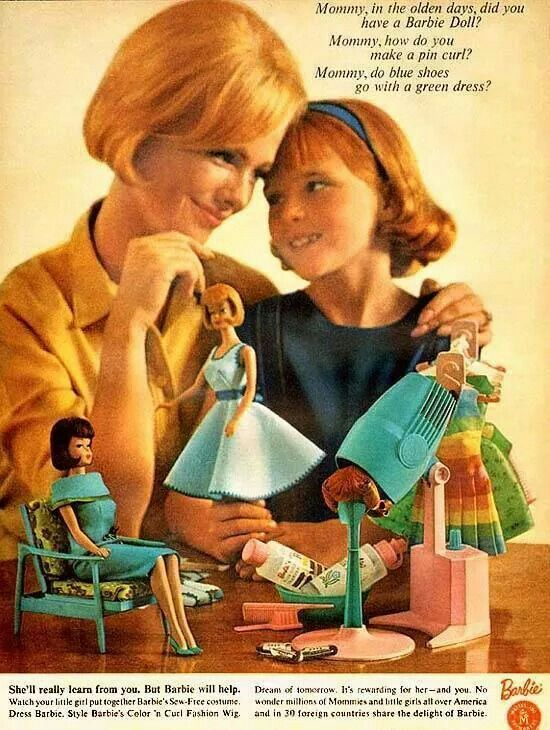 an analysis of the 1950s when ruth handler saw her daughter playing with paper dolls Miscellaneous science fictions science fiction and  one of the missing scientists and his daughter,  thrillers and science fiction: 1950s to.