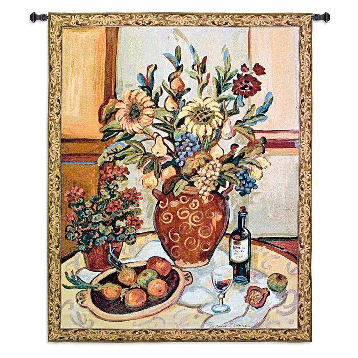 Fine Art Tapestries Provence Interior II Wall Tapestry - 3504-WH