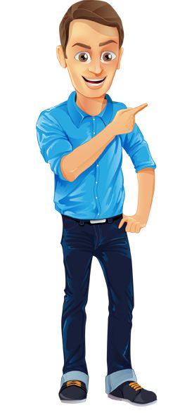 Image for Free Men With Jean and Blue Shirt Vector Character