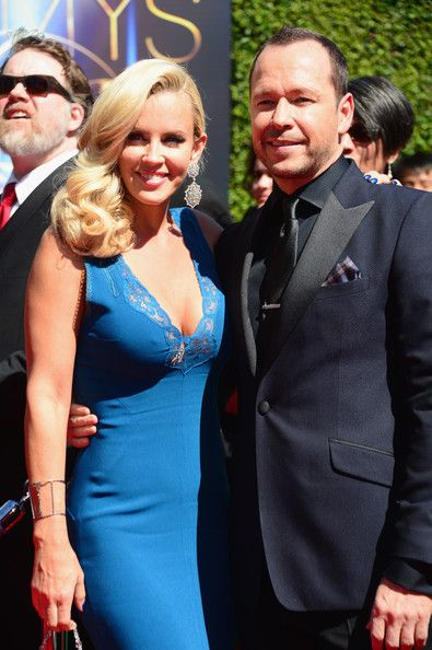 Jenny McCarthy & husband Donnie Whalberg, at the Creative Arts Emmy Awards