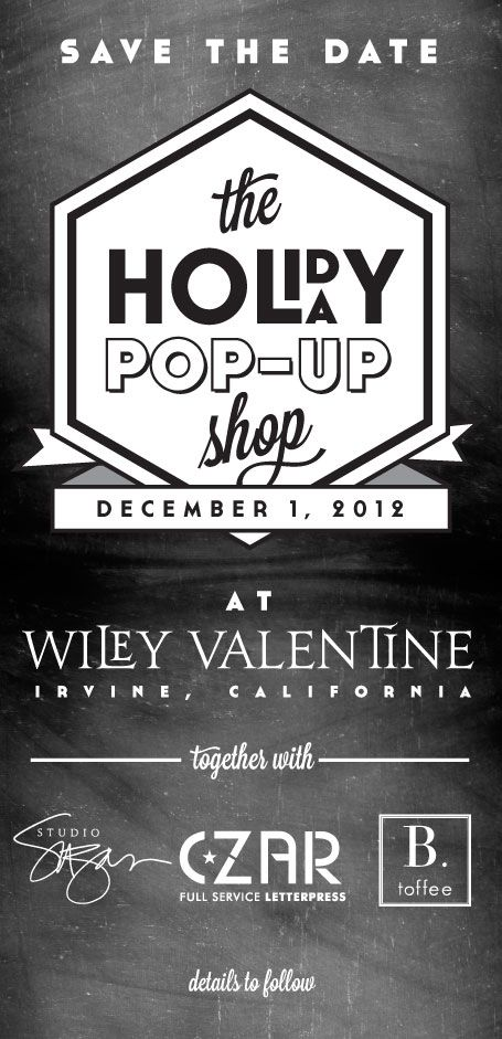 Wiley Valentine pop-up shop