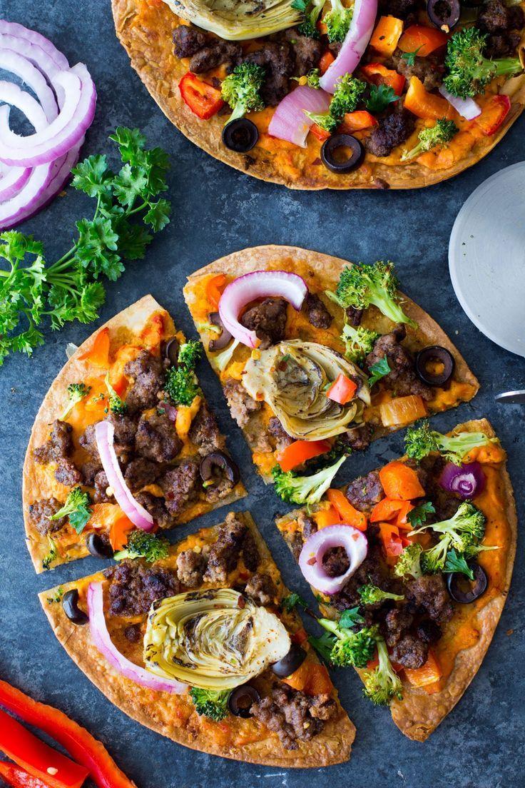 Mediterranean Pizzas Recipe Dinner With Ground Beef Healthy Beef Recipes Ground Beef Recipes Easy