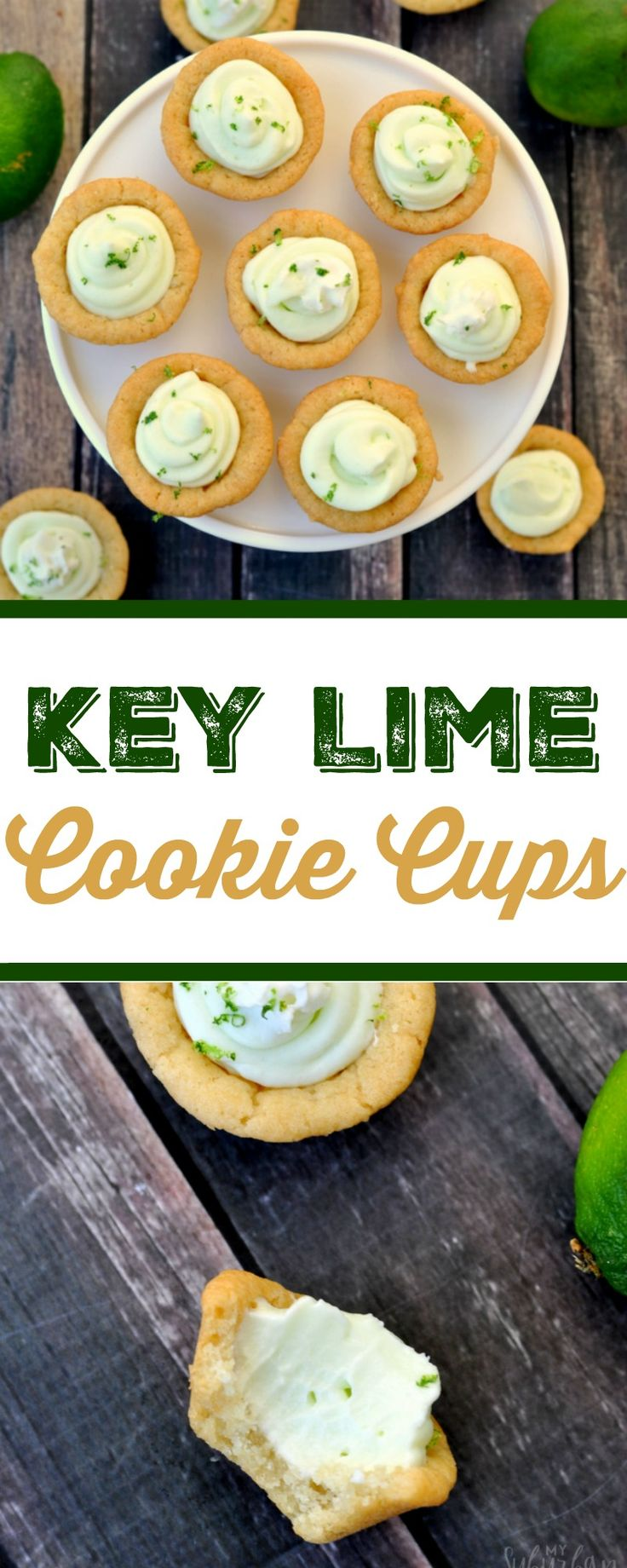 Key lime pie is my husband's favorite dessert. It gets a little makeover with this recipe for key lime cookie cups. Both are so delicious.