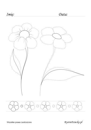 Ćwiczenia grafomotoryczne, rysowanie po śladzie dla dzieci